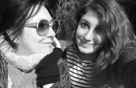 Edith, l'auteur du Dico, et sa fille Manon, devenue son éditrice - (Tache d'Encre éditions)