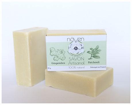 savon à froid naturel gingembre patchouli artisanal