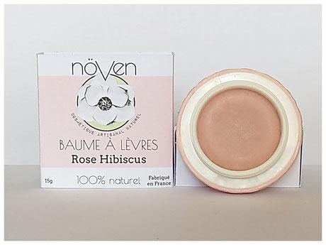 baume lèvres rose hibiscus naturelle maquillage