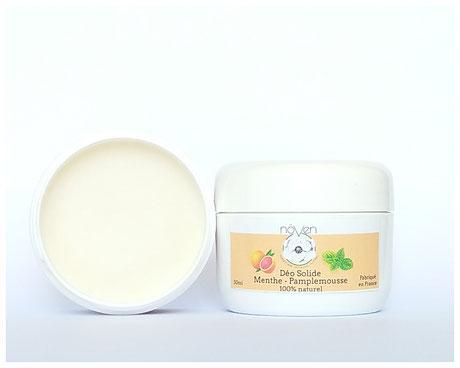 déodorant solide naturel menthe pamplemousse
