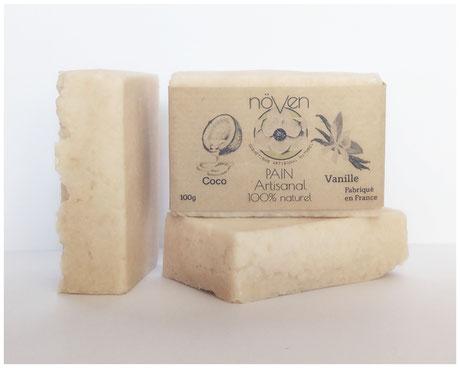 pain vanille coco naturel artisanal produits cosmétique