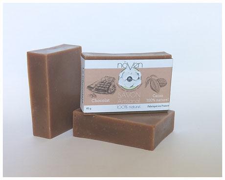 savon à froid naturel chocolat artisanal cosmétique