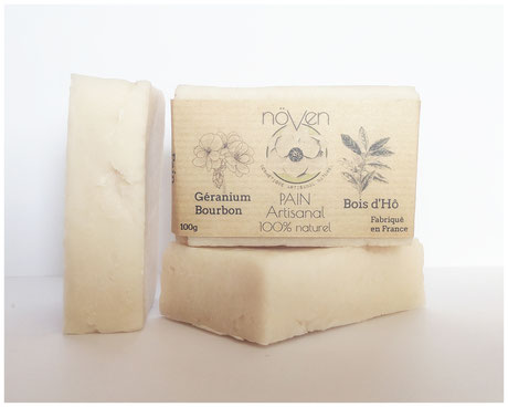 pain naturel artisanal cosmétique géranium bourbon bois d'hô