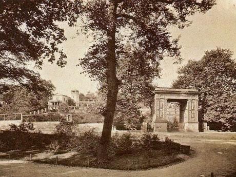 Winzerberg mit Triumphportal - Ansicht um 1912