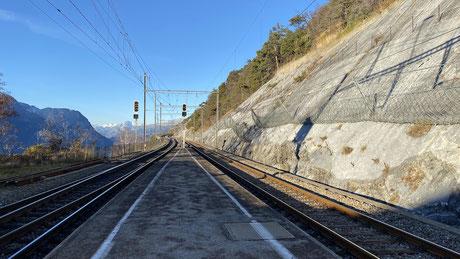 Bahnhof Hohtenn - Ausfahrt Richtung Norden