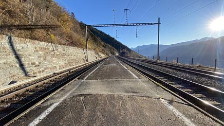 Bahnhof Hohtenn - Ausfahrt Richtung Süden