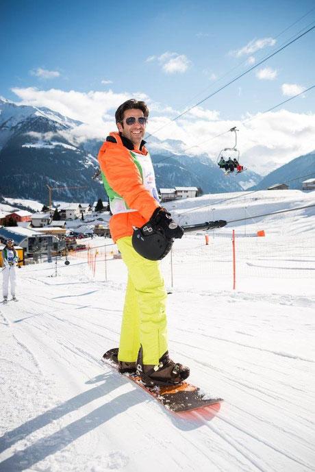 Andre Roger am Renzo's Schneeplausch, Vella, Val Lumnezia