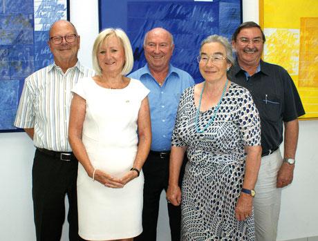 Die neue Vorstandschaft des Kreisseniorenrates Rems-Murr (von links): Gerhard Dannwolf,  Christa Cepa-Reizel, Roland Schlichenmaier,  Waltraud Bühl und Karl-Heinz Pscheidl.