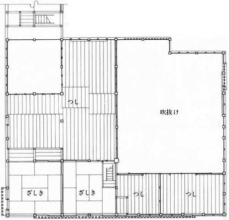 ニ階平面図/Upper floor plan