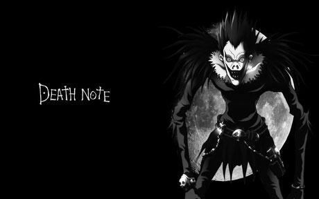 Personnage Ryuk, dieu de la mort dans Death Note. Source:https://dauntlessgirl.wordpress.com/