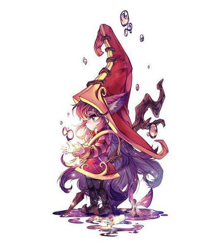 Fan Art  réalisé par Panza du personnage Lulu du jeu-vidéo League Of Legend. Source: https://www.pixiv.net/member_illust.php?mode=medium&illust_id=67237170