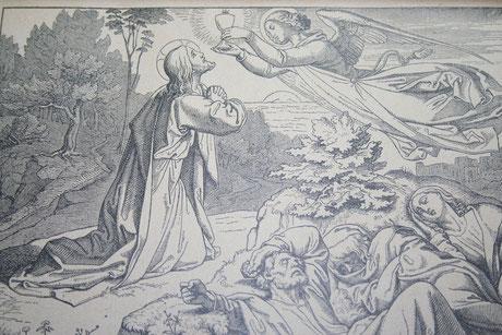 Todesangst Jesu im Ölgarten (Erstes schmerzensreiches Geheimnis)