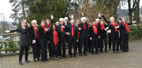 Der Chor freut sich auf den Auftritt!