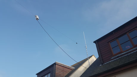Mounting a dipole on a house