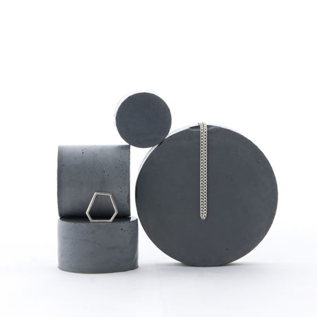 Concrete Cylinder Jewellery Display Blocks By PASiNGA