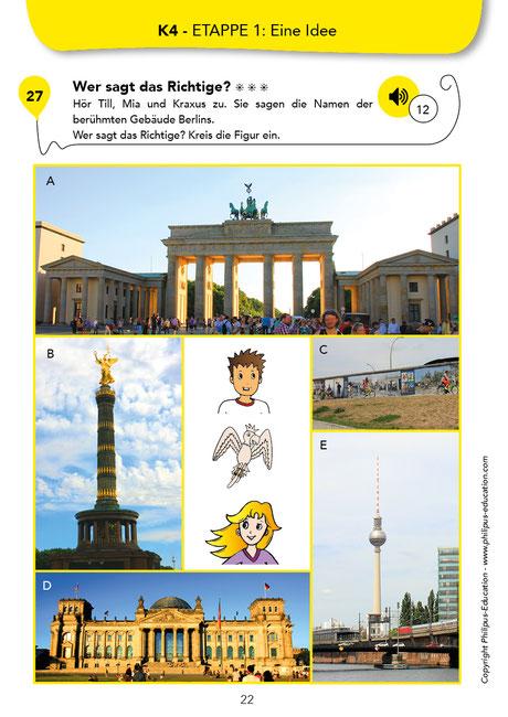 Monuments célèbres de Berlin, exercice en allemand