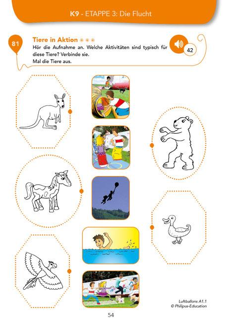 Tiere in Aktion - Übung aus LUFTBALLONS