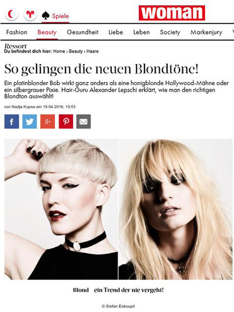 Bericht der WOMAN online (April 2016)