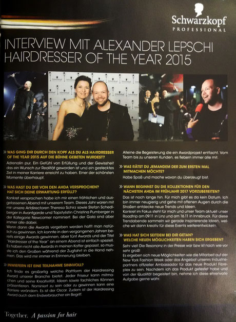 Bericht der TOPHAIR International (November 2015)