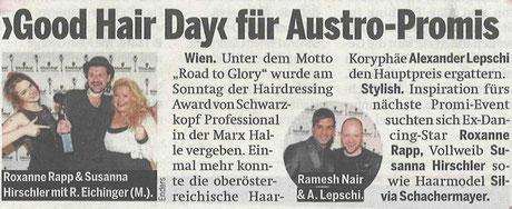 Bericht der Österreich-Zeitung (Wien) vom 28.04.2015