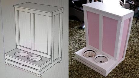 Napfhalter Kiste DIY Holzarbeit Hund