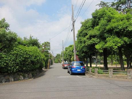 緑あふれる住宅街です。