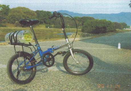 自転車式しゃぼん玉機