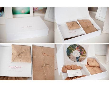 Verpackung von Hochzeitsfotos