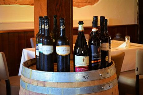 Gute regionale Weine in der Weinkarte des Kaiserstühler Hof Rust