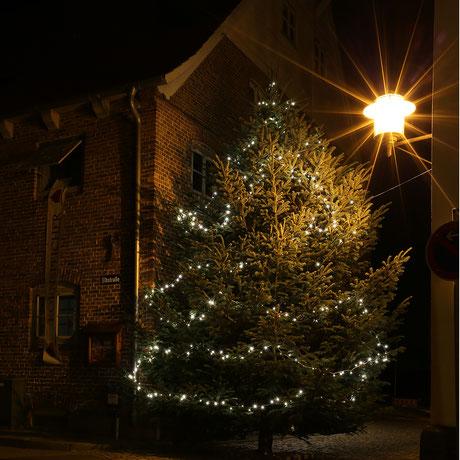 Bild: Weihnachtsbaum mit Sternchenlichtern, ©Rita Helmholtz