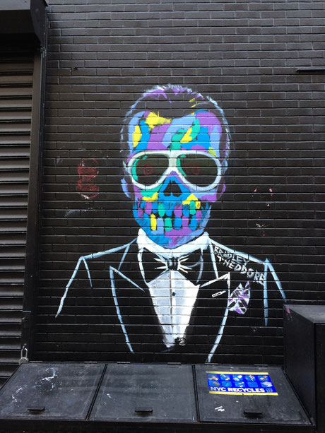 Karl Lagerfeld Graffiti in East Village New York City
