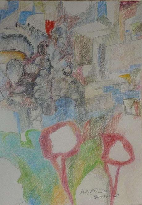 Buntstift auf Papier, 2012, 29,5x42