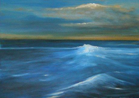 Gemälde in Blau Meer Acryl