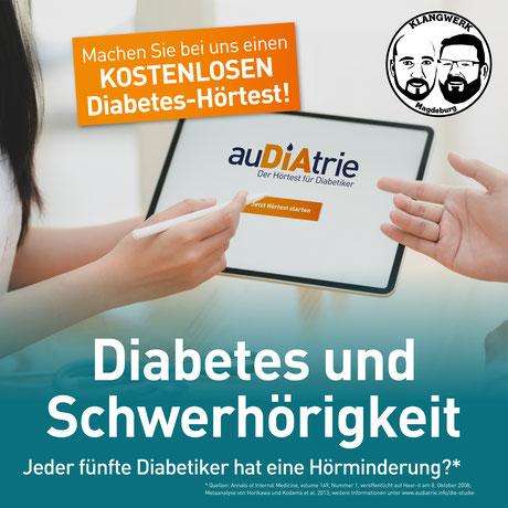 Diabetes Hörtest Hörverlust schwerhörig