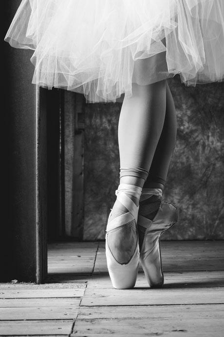 Spitzenschuhe Tutu Ballett Fotoshooting Fotograf in Recklinghausen Ruhrgebiet Deutschland
