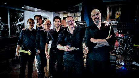 Da sinistra, Mirco Brunello, Francesco Nardo, Lucio Pavan, Manuele Maestri, Lorenzo Bellini, Davide Michieletto.