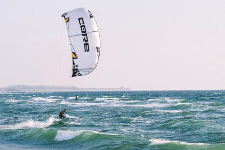 Kitesurfing Denmark with Coconut Kite