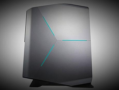 Gaming PC: Dell Alienware Aurora R7 von der Seitenansicht