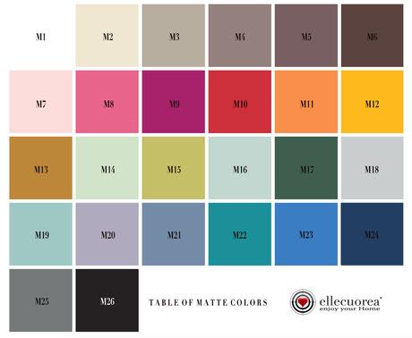 Tabella colori per scale a pioli ellecuorea - Color chart for custom wood ladders by ellecuorea