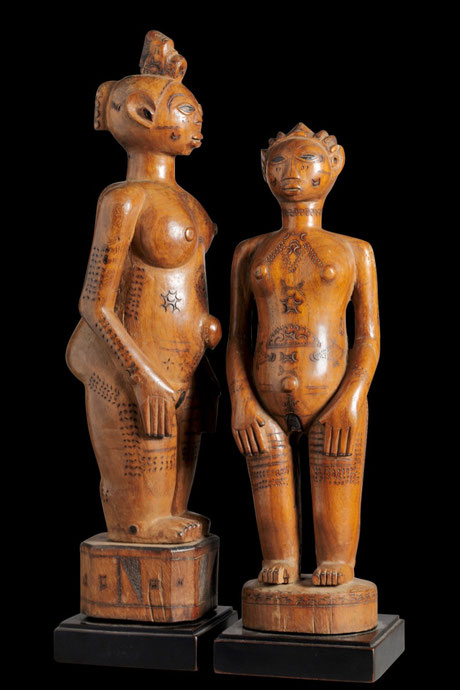 Extraordinary Zela Couple from Jos Humblet Collection