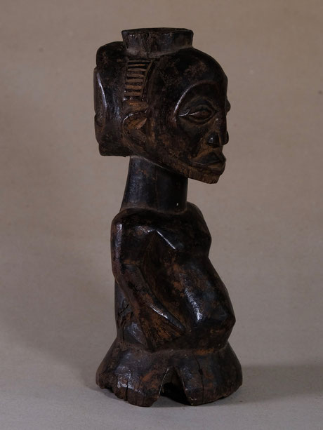 "Hemba figure ""kabeja"" with reservoir on head and nice overall patina"