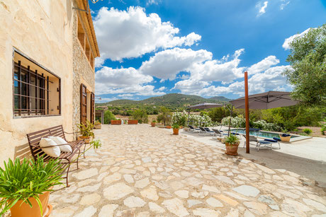 Finca Cas Caminer mit Panoramablick und Pool