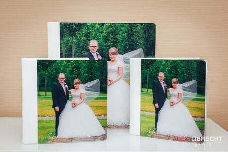 Leder Hochzeitsfotobuch