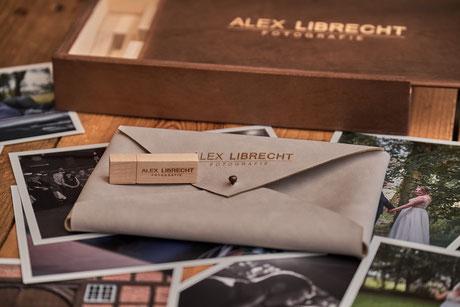 Hochzeit Usb-Stick mit Holz Box