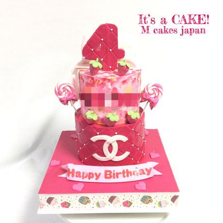 ピンク&ピンク&ピンク 4歳お誕生日ケーキ🎀 #ピンク #お誕生日 #いちご組 #スイーツ #キャンディ #🍭 #ケーキ #pink #pinkcake #bdcake #4thbirthday #torte #gateau #cake #誕生日ケーキ #🇯🇵