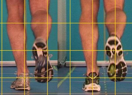 Sichtbarmachen und Vergleichen mehrerer Schuhe direkt Live währed des Laufens, der Kunde sieht sich selbst, Analysen Verkauf im Sportfachhandel, Sanitätshaus oder beim Orthopädie Schuhmacher