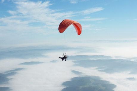 Ultraleichtflug, Gleitschirmfliegen Altena