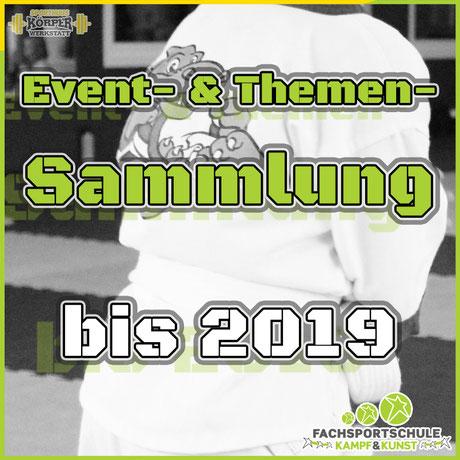 Beitragsbild Event- & Themensammlung bis 2019 - Kampfsportschule in Friesoythe