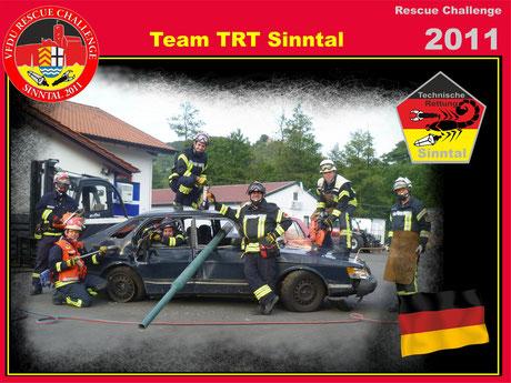 Teammitglieder 2011 - von rechts - Sebastian Krack, Dirk Schiefer (IC) Thomas Beier, Marcel Jordan,Thomas Böhm, Michael Schüßler, Matthias Gärtner