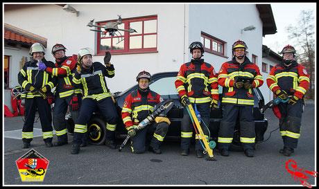 Teammitglieder von 2013 - von links - Thomas Beier,Michael Schüßler, Marcel Jordan, Sebastian Krack,Thomas Böhm,Dirk Schiefer,Matthias Gärtner